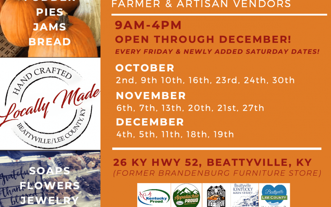 Locally Made Market – Open Through December
